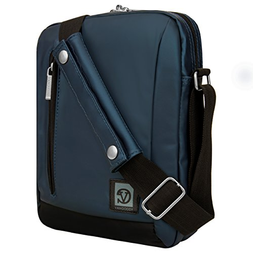 Messenger Satchel Laptop Bag (Navy Blue/Black) For RCA 9 Gemini RCT6293W23 9-inch Tablet
