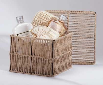 Vanilla Milk Bath Gift Set Rustic Cord Box Gel Lotion