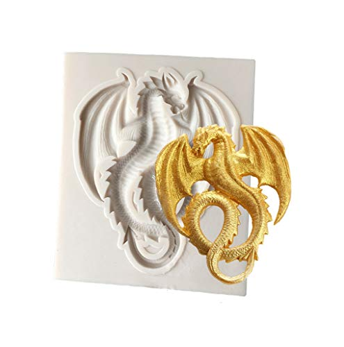 Joinor Cute Flying Dragon Silicone Fondant Mold, Candy, Chocolate Mold (Dragon Suckers)