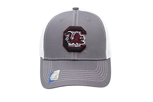 (Collegiate Headwear Men's South Carolina Gamecocks Embroidered Grey Ghost Mesh Back Cap)