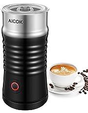 Montalatte Elettrico Aicok, Schiumatore 3in1 con Doppio Rivestimento Antiaderente, Controllo della Temperatura, Spegnimento Automatico, Scalda Liquidi per Caffè, Latte, Cappuccino