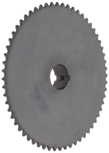 Tsubaki 35B45FJ Finished Bore Sprocket, Single Strand, Hardened Teeth, Inch, #35 ANSI No., 3/8