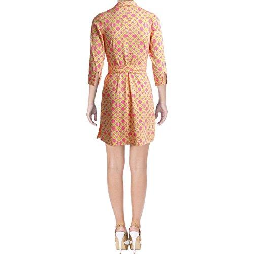 Rosa Di 4 Opaco Womens Wrap Maglia 3 Peretti Dress Marrone Maniche Milo Julie Jb OTaqwdd