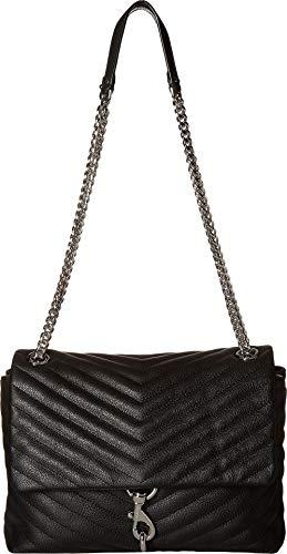 Rebecca Minkoff Women's Edie Flap Shoulder Bag Black 1 One Size