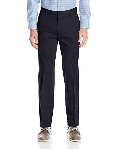 Dockers Men's Straight Fit Signature Khaki Pant D2, Navy (Stretch), 42W x (Signature Stretch Twill Pants)