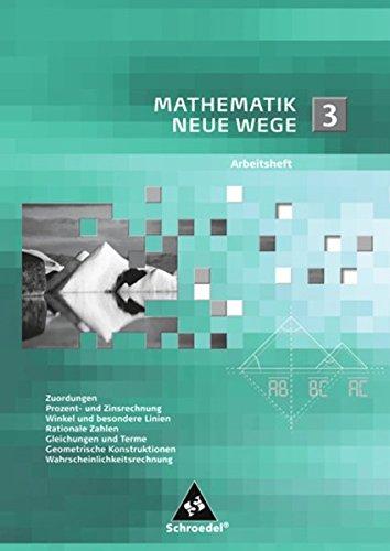 Mathematik Neue Wege SI: Arbeitsheft 3