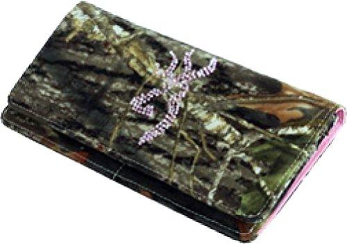 Browning Womens Wallet Continental Mossy Oak Break Up/Pink