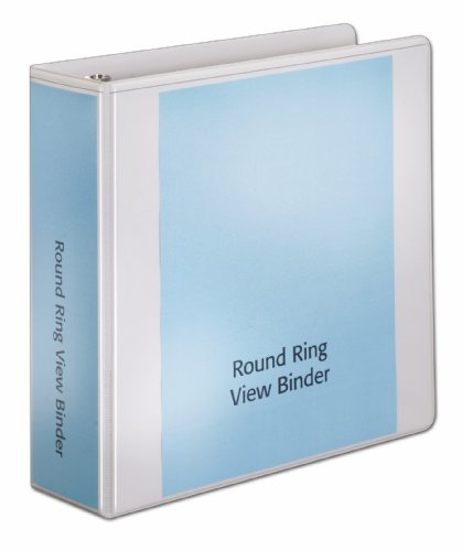 (Cardinal BasicValue ClearVue Round Ring, 3-Inch, White (01600))