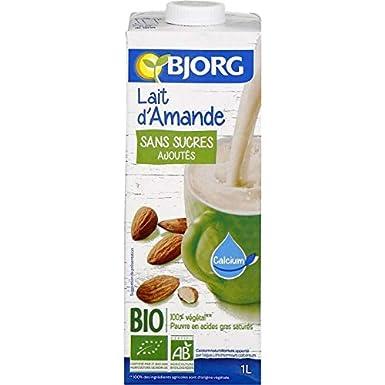 Bjorg - Leche De Almendras Sin Azúcar 1L - Lait DAmande Sans Sucre 1L