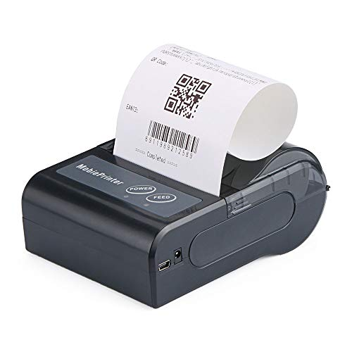 Dprinter Mini Bluetooth Thermal Printer, 80mm Portable USB Receipt Ticket POS Printing for iOS, Android (Black)