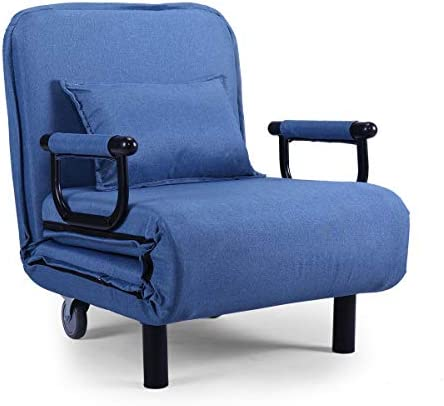 Fabric Single Convertible Lazy Sofa Folding Chair Leisure Recliner 5 Position Lounge Couch - the best living room chair for the money