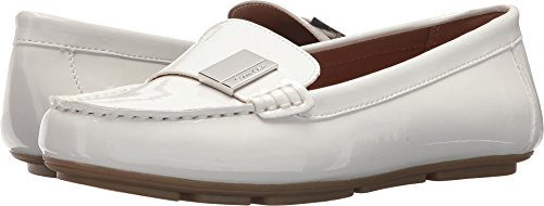Calvin Klein Womens Lisa Platinum White 6 M