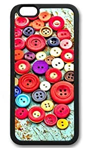 All Kinds of Buttons DIY Rubber Black iphone 6 Case Perfect By Custom Service in GUO Shop