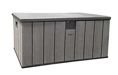 Lifetime 60215 Heavy-Duty Outdoor Storage Deck Box, 150 Gallon