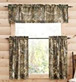 RealTree Xtra Camo 29″ x 36″ Curtain Panels, Set of 2 with 60″ X 15″ Valance For Sale