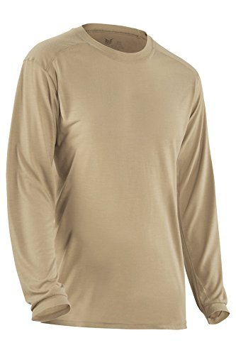 DRIFIRE Flame Resistant Military Ultra-Lightweight Long Sleeve Shirt Desert Sand, Size: LG