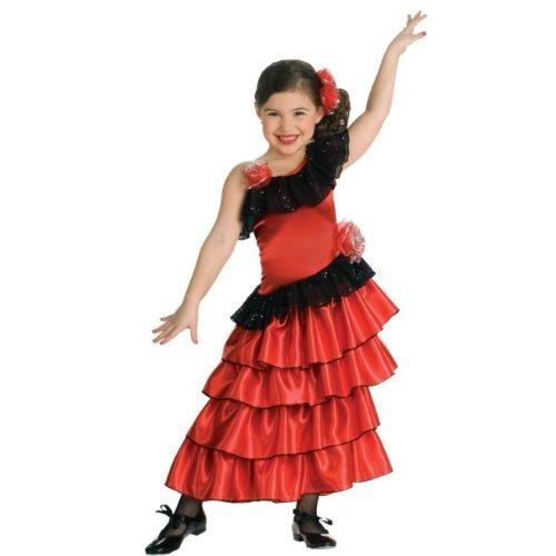 [Spanish Princess Kids Costume - Large] (Cinco De Mayo Dress)