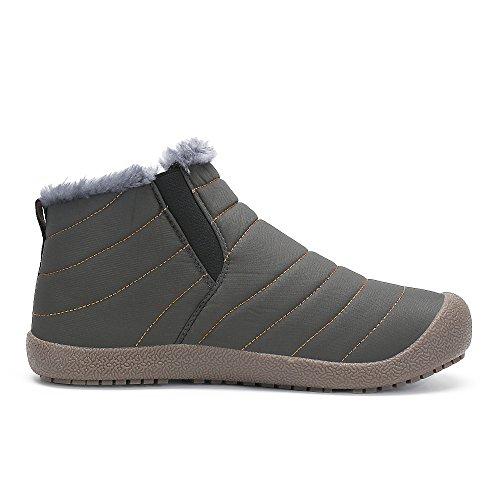 Bigcount Hombres Mujeres Al Aire Libre Impermeable Botas De Nieve Forrado De Piel Ligero Antideslizante Zapatos De Invierno