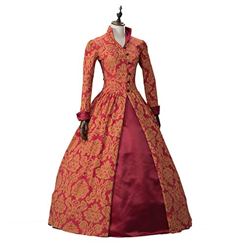Renaissance Queen Elizabeth I/Tudor Gothic Jacquard Fantasy Dress Game of Thrones Gown Halloween Costumes (M, color1) -