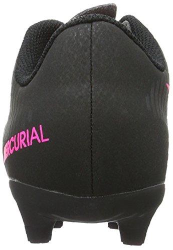 Nike Mercurial Vortex Iii Fg, Chaussures de Football Mixte Enfant, Noir (Black/Black), 36 EU