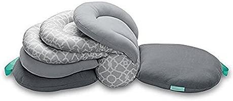 Almohadas para lactancia materna, altura ajustable, color gris