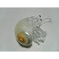 Nice glass blowing hermit crab natural pearl seashell (Copter Shop)