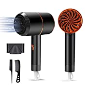 Ionic Hair Dryer,1800W Professional Blow Dryer (with Powerful AC Motor), Negative Ion Technolog, 3 Heating/2 Speed/Cold…