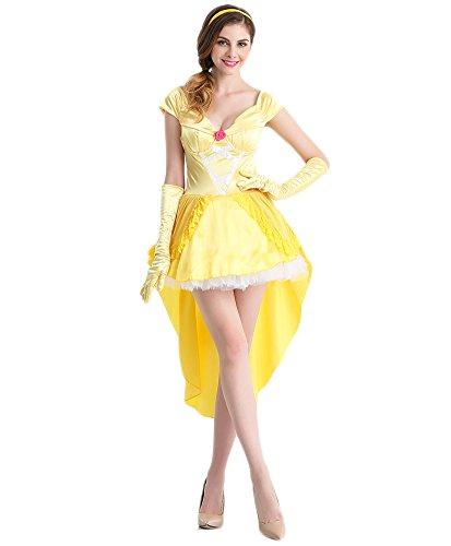 Bikini Factory Adult Women Princess Queen Cosplay Costume Performance Dress (Enchanting Belle Adult Womens Costumes)