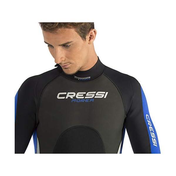 Cressi Morea Man Monopiece Wetsuit 3 mm, Muta Monopezzo Neoprene Ultrastretch Uomo 5 spesavip