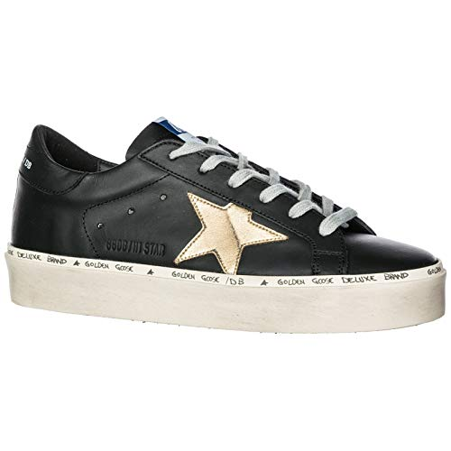 Golden Scarpe Goose Sneakers Nero Star Hi Pelle Nuove In Donna rRUrxqng