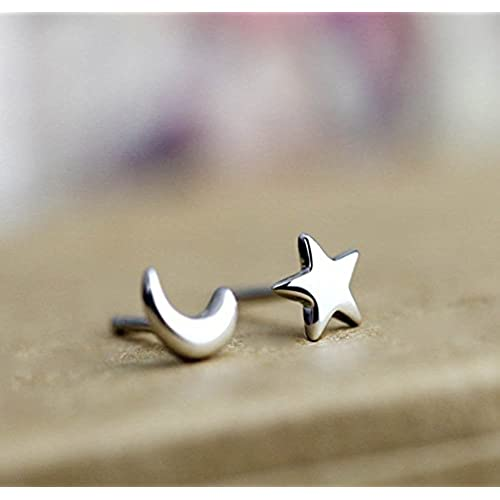 dd4e94e3e77c Lovely Celebrity Jewellery, Mini Estrella y media luna de plata de ...