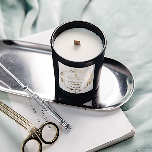Romantic Aromatherapy CandleSoy WaxFragrance Candle LightSmokeless Mosquito Repellent Candle Black Scrub/Blue Wind Bell