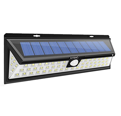 WYBAN Solar Lights, 90 LED Outdoor Motion Sensor Solar Lights Wide Angle Design With 5 LEDs Both Side For Driveway Patio Deck Yard Garden, White - Angle Bulbs Led Light Wide