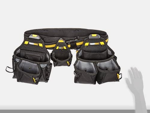 """ToughBuilt Padded Tool Belt with Heavy-Duty Clip 32/"""" 48/"""" Waists for Pouches"""