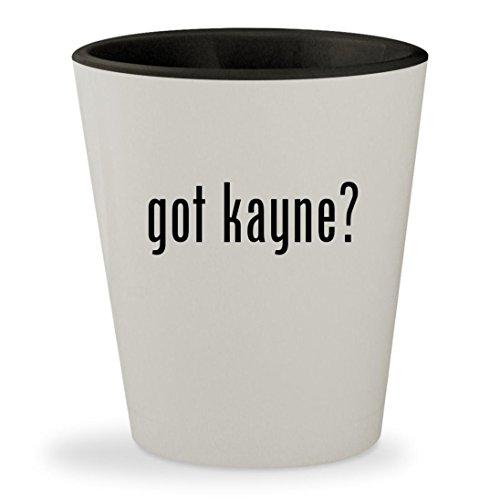 got kayne? - White Outer & Black Inner Ceramic 1.5oz Shot - West Glasses Kayne