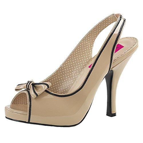 Heels-Perfect - Sandalias de vestir de Material Sintético para mujer beige (beige)