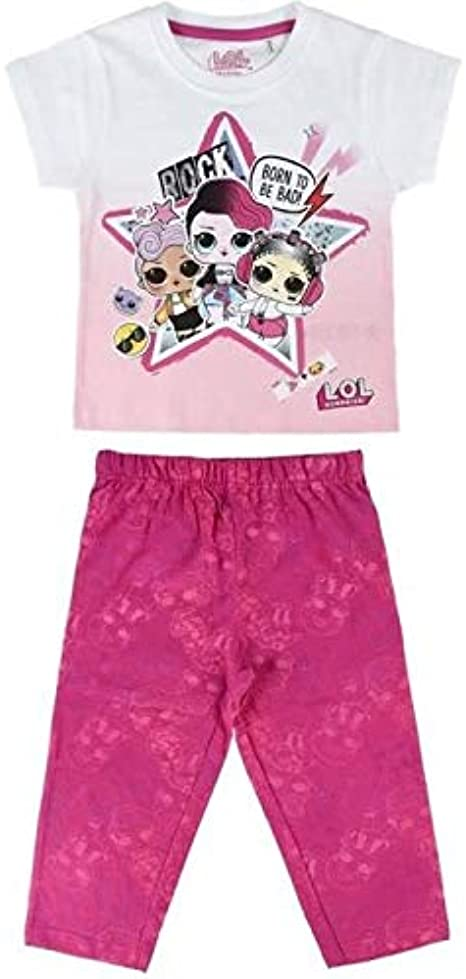 Pigiama Bambina Cerd/á Pijama Corto Algod/ón LOL