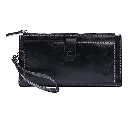 Leather Hand Bag Wallets Women Coin Purses Wristlet Bags With Strap