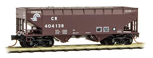 Conrail Hopper - Micro-Trains MTL N-Scale 33ft Two-Bay Coal Hopper Conrail/CR/Load #404138