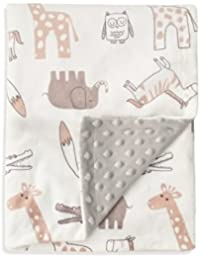 Baby Blanket Soft Minky with Double Layer Dotted Backing, Lovely Animals Printed 30