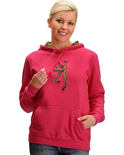 Browning Women's Buckmark Camo Sweatshirt Fuchsia XX-Large