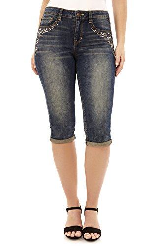 Angels Jeans Womens Signature Capri