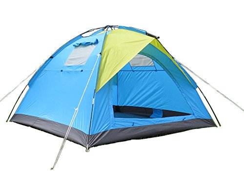 Hasika Lightweight 3-4 Person Camping Backpacking Tent,Multi-6.9'x6.9'