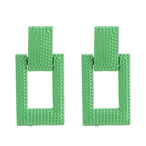 New Hot Neon Green Orange Drop Earrings For Women Heart Square Geometric Dangle Earrings Fashion Jewelry Gifts,Neon green 3