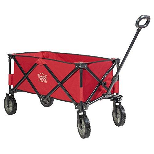 Timber Ridge Folding Camping Wagon, Garden Cart, Collapsible, Red (Wagon Garden Red)
