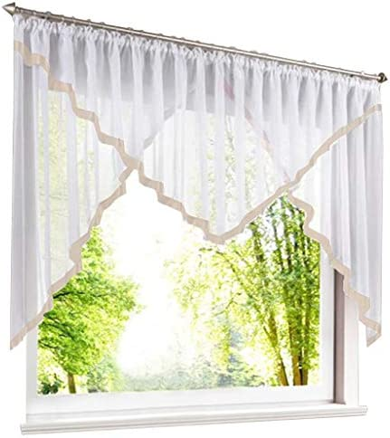 86 York 1 Piece Rod Pocket Sheer Voile Swag Roman Shade Kitchen Balcony Curtain Window Valance 57 by 236