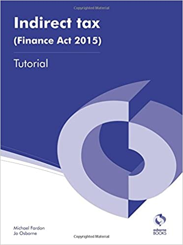 Book Indirect Tax (Finance Act 2015) Tutorial (AAT Accounting - Level 3 Diploma in Accounting)