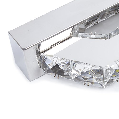 Crystal Led Vanity Lights : Lightess Crystal Bathroom Vanity Lights Fixtures Led Bath Vanity Wall Sconces Make Up Mirror ...