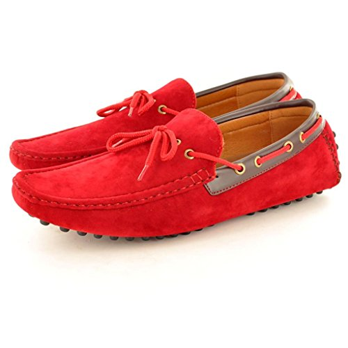 Schuhe Rot Mokassins Casual Slipper Driving Herren Slipper xqXF6C7