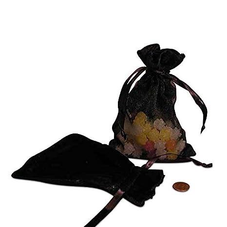 Amazon.com: De terciopelo negro y Sheer bolsas – bolsas de ...